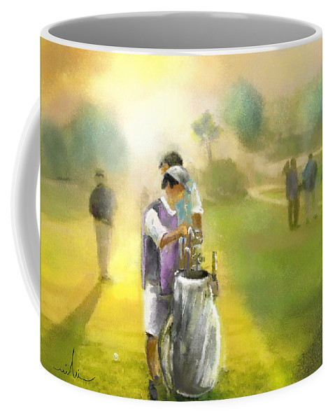 Golf Coffee Mug featuring the painting Golf Vivendi Trophy In France 03 by Miki De Goodaboom