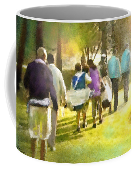 Golf Coffee Mug featuring the painting Golf Vivendi Trophy In France 04 by Miki De Goodaboom