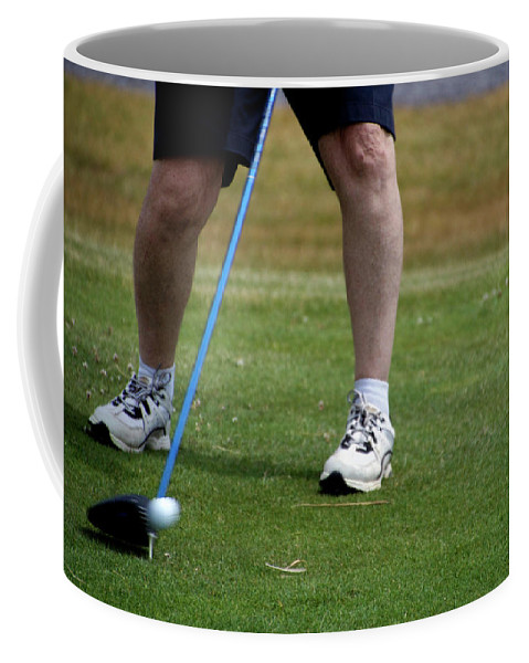 New York Coffee Mug featuring the photograph Golfing Driving The Ball In Flight by Thomas Woolworth