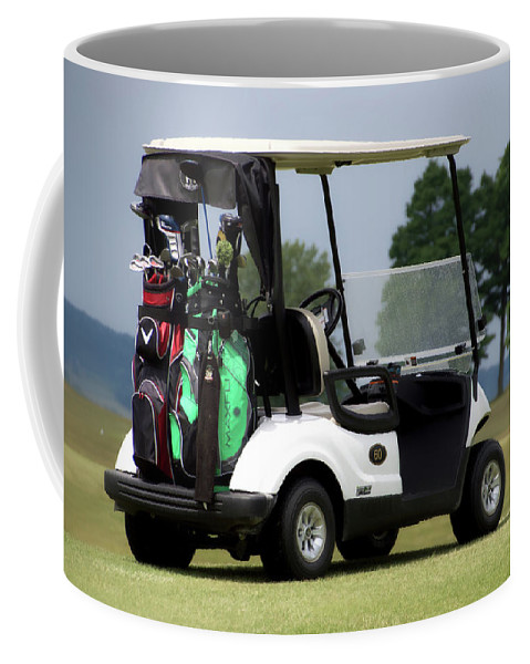 Tully New York Coffee Mug featuring the photograph Golfing Golf Cart 05 by Thomas Woolworth