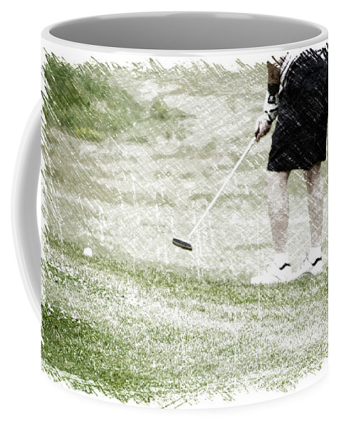 New York Coffee Mug featuring the photograph Golfing Putting The Ball 01 Pa by Thomas Woolworth