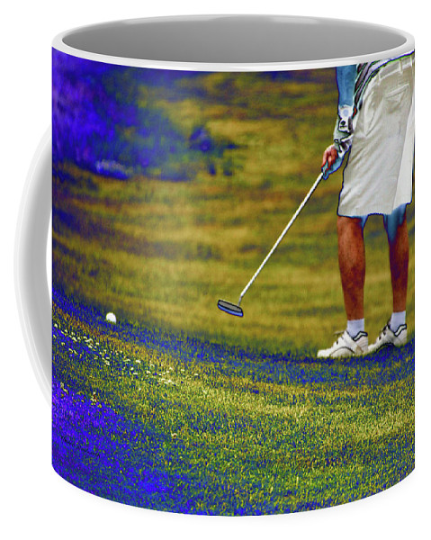 New York Coffee Mug featuring the photograph Golfing Putting The Ball 02 Pa by Thomas Woolworth