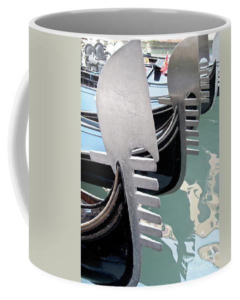 Italy Coffee Mug featuring the photograph Gondola In Line by Heiko Koehrer-Wagner