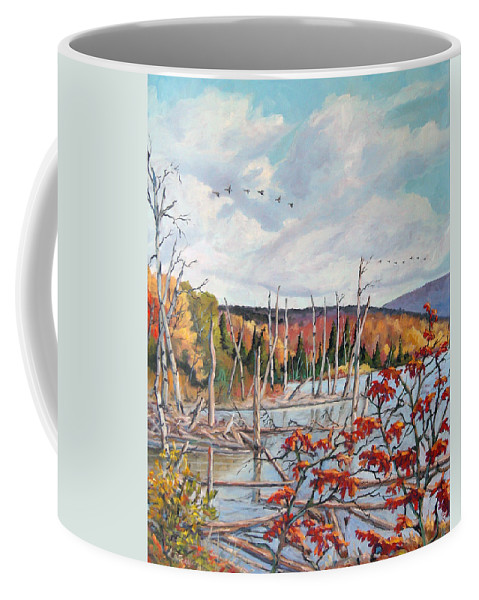 Original Painting Coffee Mug featuring the painting Gone South by Richard T Pranke