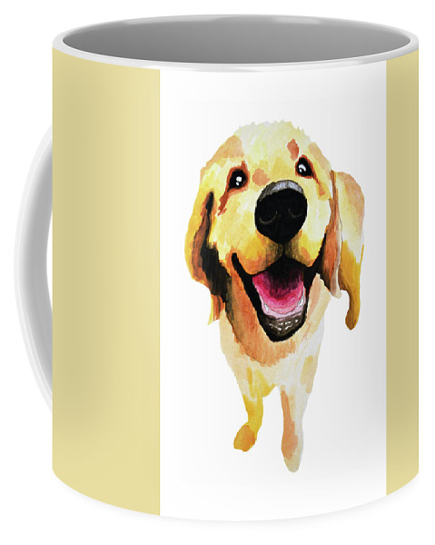 Dog Coffee Mug featuring the painting Good Boy by Amy Giacomelli