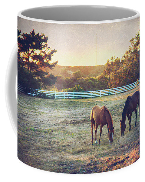 Half Moon Bay Coffee Mug featuring the photograph Good Company by Laurie Search