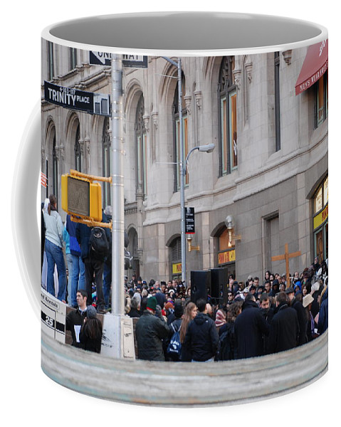 Church Coffee Mug featuring the photograph Good Friday On Trinity Place by Rob Hans