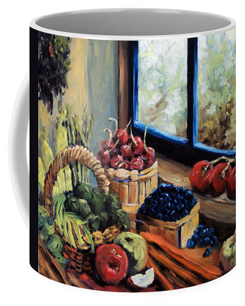 Art; Painting Coffee Mug featuring the painting Good Harvest by Richard T Pranke