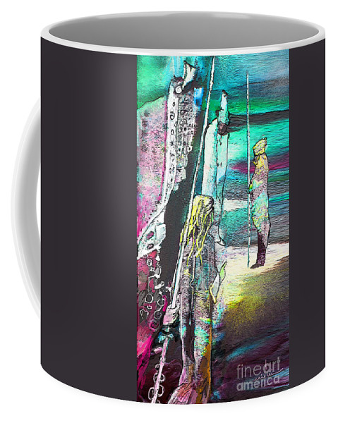 Biblescape Coffee Mug featuring the painting Good Lord Show Me The Way by Miki De Goodaboom