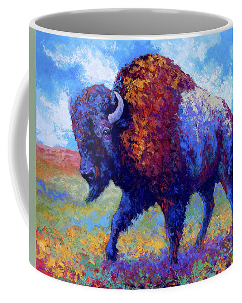 Bison Coffee Mug featuring the painting Good Medicine by Marion Rose