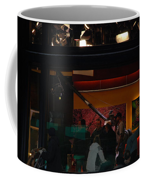 Studio Coffee Mug featuring the photograph Good Morning America Commercial Break by Rob Hans
