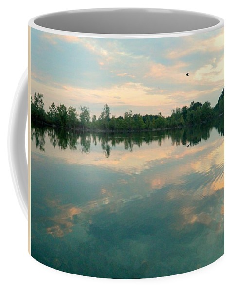 Farm Coffee Mug featuring the photograph Good Morning Bird by Kathy Barney