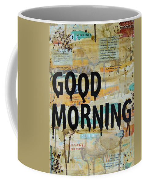 Good Morning Coffee Mug featuring the painting Good Morning Coffee Collage 9x12 by Michelle Eshleman