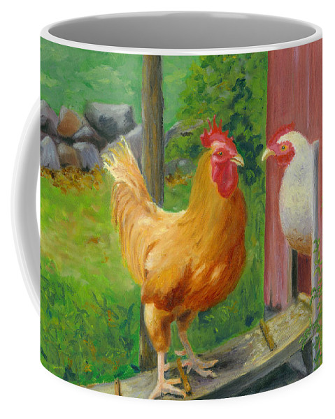 Landscape Coffee Mug featuring the painting Good Morning Dudley by Paula Emery