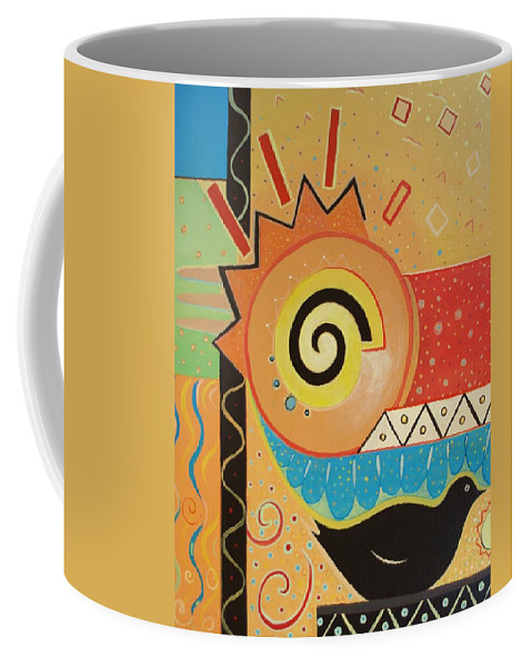 Rise And Shine Coffee Mug featuring the painting Good Morning by Helena Tiainen