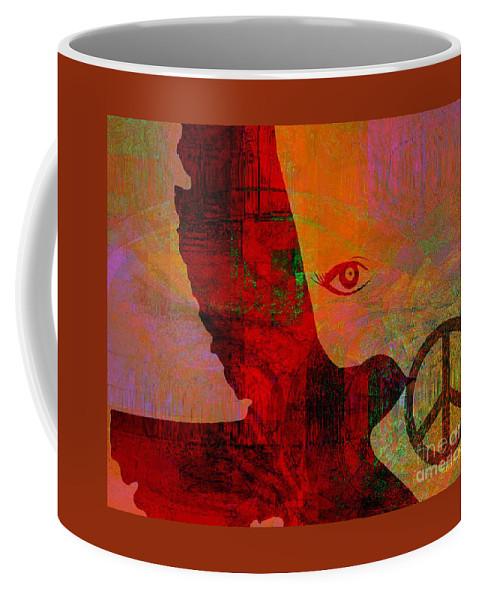 Fania Simon Coffee Mug featuring the mixed media Good News Finally by Fania Simon