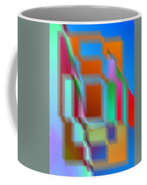 Abstract Coffee Mug featuring the digital art Good Vibrations by Tim Allen