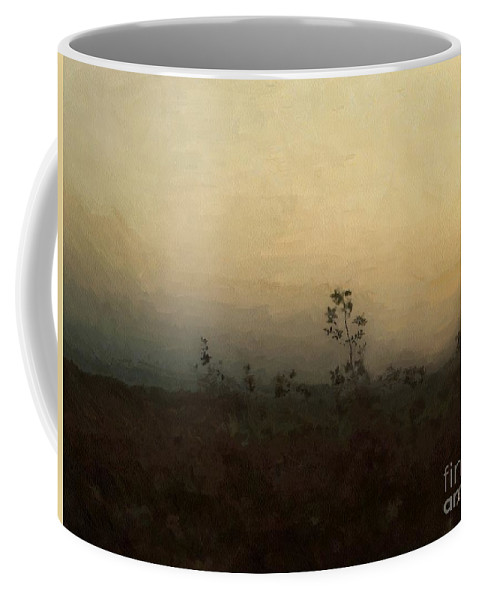 Dusk Coffee Mug featuring the painting Goodnight On The Prairie by RC DeWinter