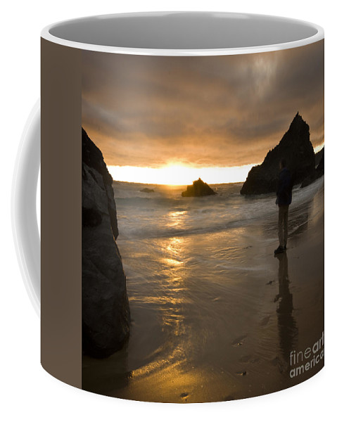 Sun Coffee Mug featuring the photograph Goodnight Sun by Angel Ciesniarska
