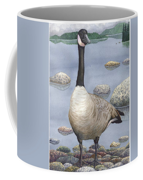 Goose Coffee Mug featuring the painting Goose by Catherine G McElroy