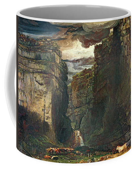 Yorkshire Coffee Mug featuring the painting Gordale Scar by James Ward