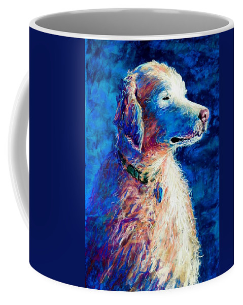 Dog Coffee Mug featuring the pastel Gorge Dog by Lynee Sapere