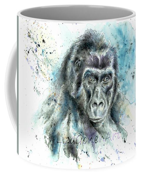 Coffee Mug featuring the relief Gorila2 by Liza Gonen