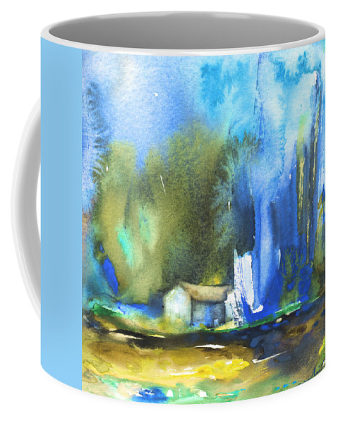 Watercolour Coffee Mug featuring the painting Got The Blues by Miki De Goodaboom
