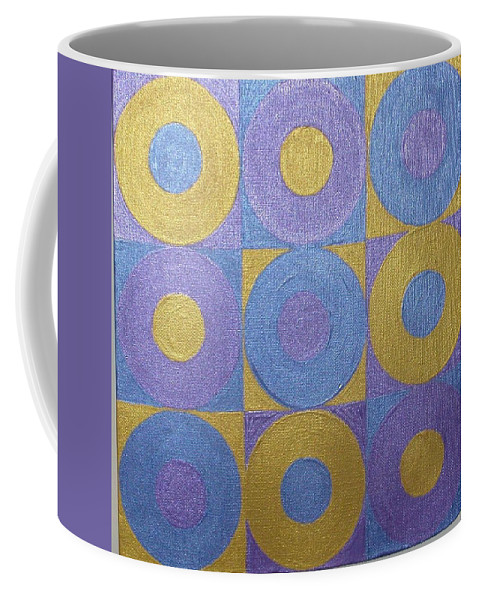 Bkue Coffee Mug featuring the painting Got The Brass Blues by Gay Dallek