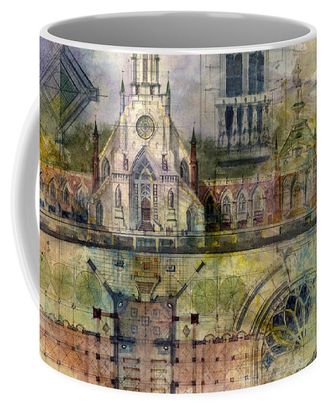 Gothic Coffee Mug featuring the painting Gothic by Andrew King