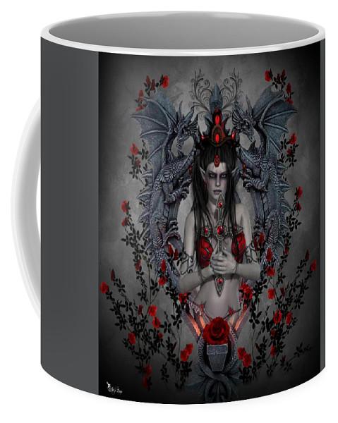 Fantasy Coffee Mug featuring the digital art Gothic Elf by Ali Oppy