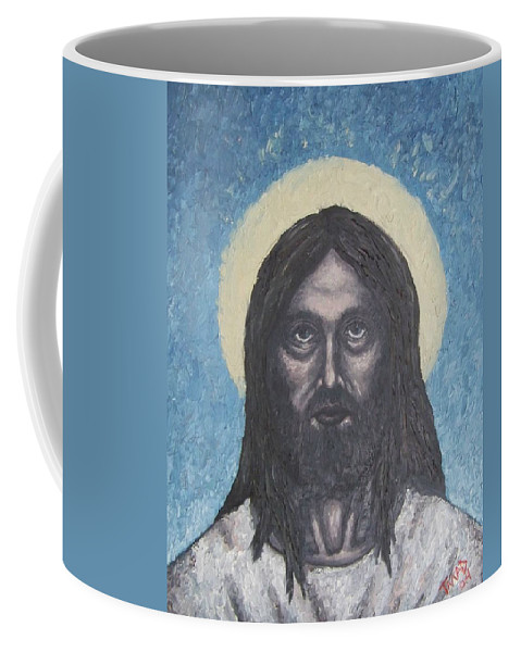 Michael Coffee Mug featuring the painting Gothic Jesus by Michael TMAD Finney
