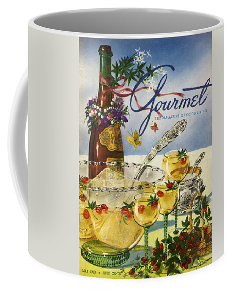 Illustration Coffee Mug featuring the photograph Gourmet Cover Featuring A Bowl And Glasses by Henry Stahlhut