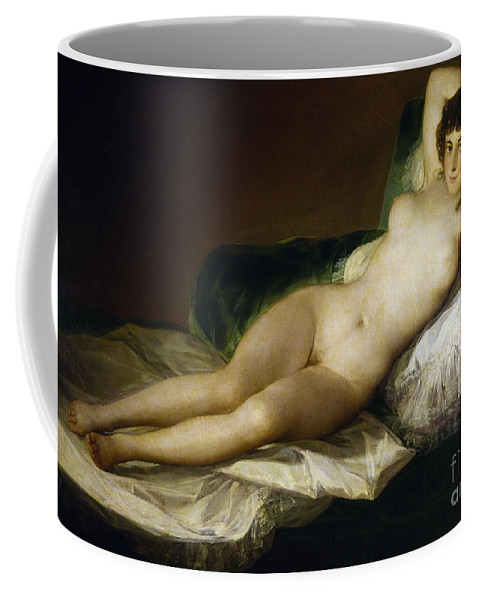 1797 Coffee Mug featuring the painting Goya: Nude Maja, C1797 by Granger