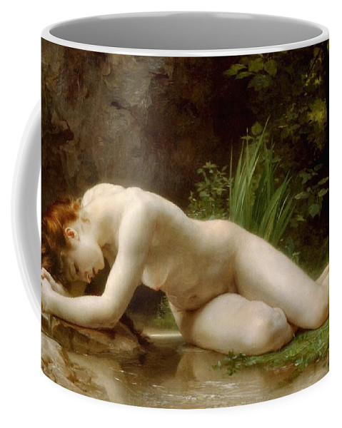 Grace In Nudity Coffee Mug featuring the painting Grace In Nudity by Georgiana Romanovna
