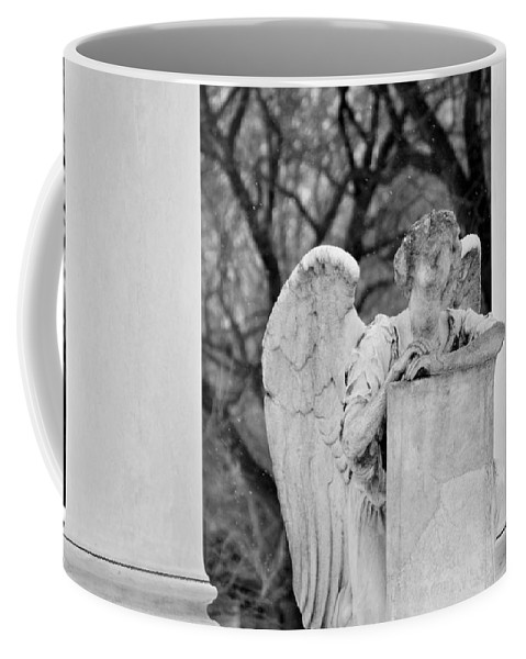 Graceland Cemetery Coffee Mug featuring the photograph Graceland Cemetery Angel by Kyle Hanson