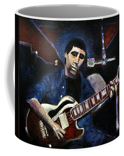 Shining Guitar Coffee Mug featuring the painting Graceland Tribute To Paul Simon by Seth Weaver