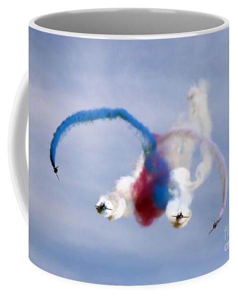 Red Arrows Coffee Mug featuring the photograph Graffiti by Angel Tarantella