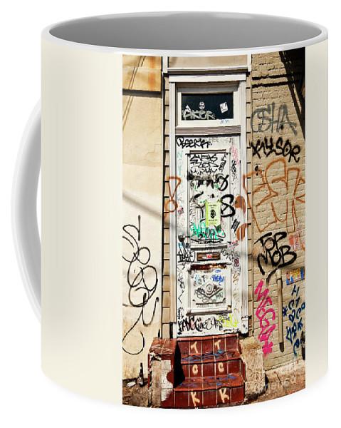 Graffiti Coffee Mug featuring the photograph Graffiti Doorway New Orleans by Kathleen K Parker