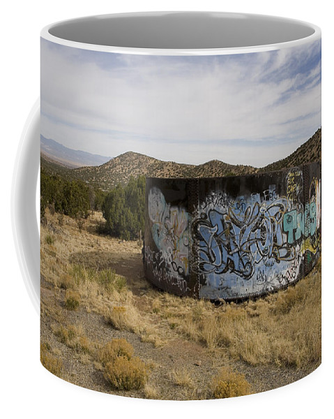 New Mexico Coffee Mug featuring the photograph Grafitti In The Middle Of Nature by Stephen St. John