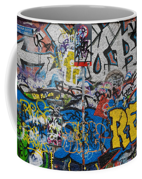 Photography Coffee Mug featuring the photograph Grafitti On The U2 Wall, Windmill Lane by Panoramic Images