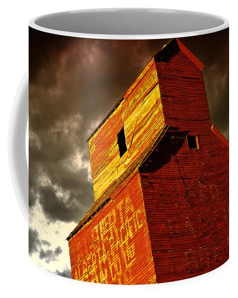 Abandoned Coffee Mug featuring the photograph Grain Elevator by Wayne Sherriff