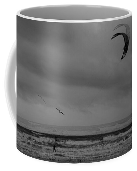 Grainy Coffee Mug featuring the photograph Grainy Wind Surf by Perggals - Stacey Turner
