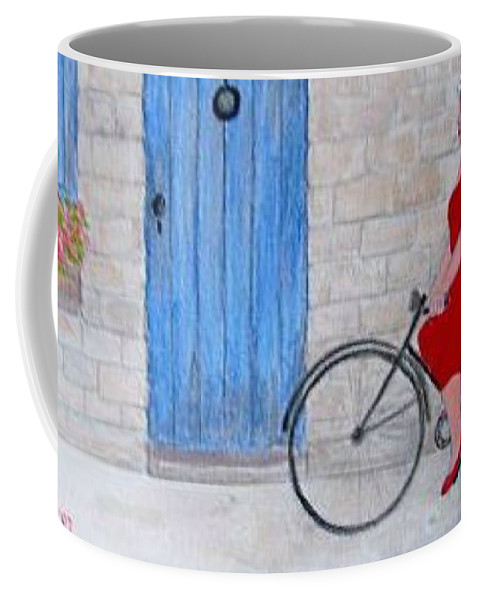 France Coffee Mug featuring the painting Gran In Provence by Fran Caldwell
