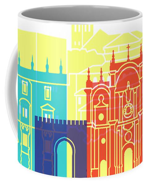 Granada Coffee Mug featuring the painting Granada Skyline Pop by Pablo Romero