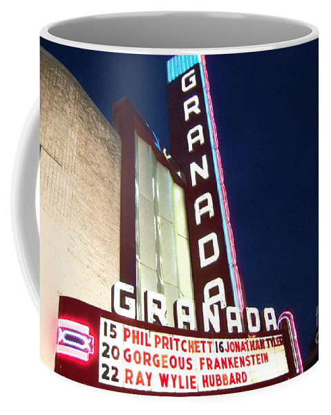 Music Coffee Mug featuring the photograph Granada Theater by Debbi Granruth