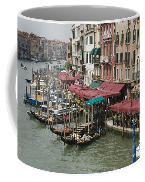 Venice Coffee Mug featuring the photograph Grand Canal 4261 by Bob Neiman