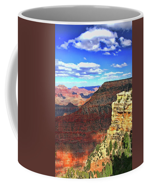 Grand Canyon Coffee Mug featuring the photograph Grand Canyon # 22 - Mather Point Overlook by Allen Beatty