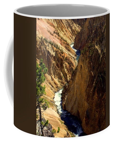 Yellowstone River Coffee Mug featuring the photograph Grand Canyon Of The Yellowstone 2 by Marty Koch