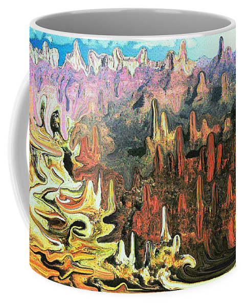 Grandcanyon Coffee Mug featuring the painting Grand Canyon Symphony - Modern Art by Peter Potter